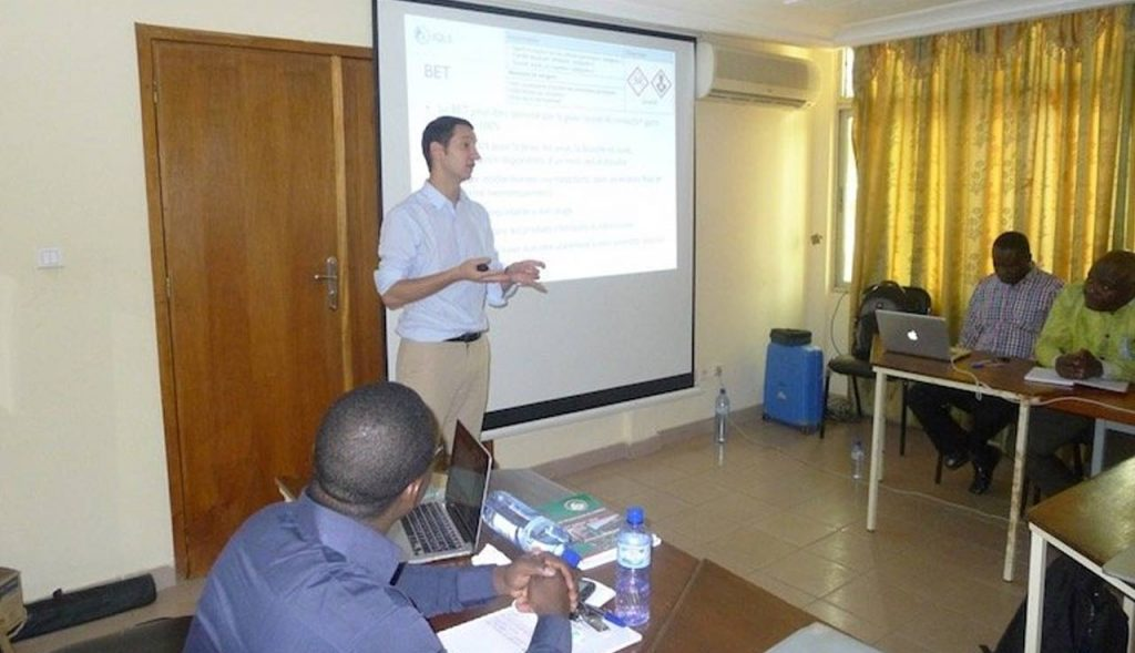 Biosafety and biosecurity strengthening for GHSA priority diseases in Burkina Faso